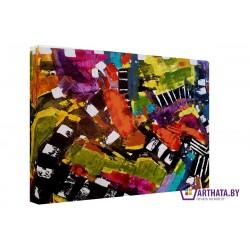 Цветные мазки - Модульная картины, Репродукции, Декоративные панно, Декор стен