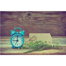 Картина на холсте по фото Модульные картины Печать портретов на холсте Голубой будильник - Черно-белые фотообои
