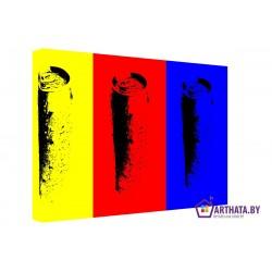 Желтый, красный, синий - Модульная картины, Репродукции, Декоративные панно, Декор стен