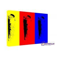 Портреты картины репродукции на заказ - Желтый, красный, синий