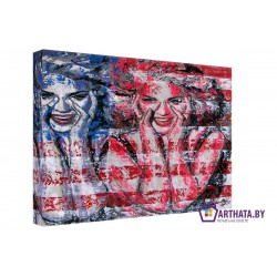 Смех США - Модульная картины, Репродукции, Декоративные панно, Декор стен