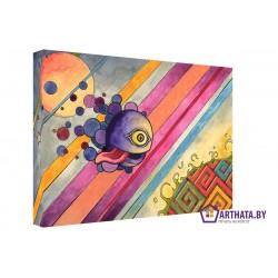 Фото на холсте Печать картин Репродукции и портреты - Рыбка в космосе