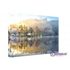 Картина на холсте по фото Модульные картины Печать портретов на холсте Отражение в воде