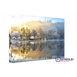 Отражение в воде - Модульная картины, Репродукции, Декоративные панно, Декор стен