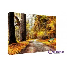 Картина на холсте по фото Модульные картины Печать портретов на холсте Рыжая осень