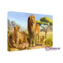 Фото на холсте Печать картин Репродукции и портреты - Король лев