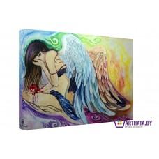 Картина на холсте по фото Модульные картины Печать портретов на холсте Ангел