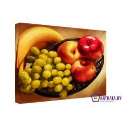 Фото на холсте Печать картин Репродукции и портреты - Яблоко и бананы
