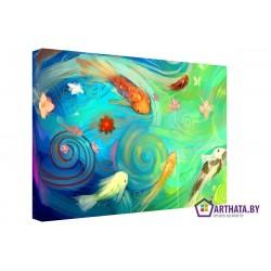 Золотые рыбки - Модульная картины, Репродукции, Декоративные панно, Декор стен