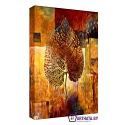 Структура листа - Модульная картины, Репродукции, Декоративные панно, Декор стен