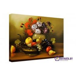 Фото на холсте Печать картин Репродукции и портреты - Ваза с фруктами