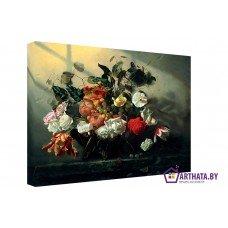 Картина на холсте по фото Модульные картины Печать портретов на холсте Натюрморт - букет