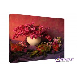 Фото на холсте Печать картин Репродукции и портреты - Красные цветы