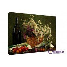 Картина на холсте по фото Модульные картины Печать портретов на холсте Вязаная корзинка