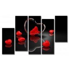 Картина на холсте по фото Модульные картины Печать портретов на холсте Разбитые сердца
