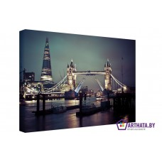 Картина на холсте по фото Модульные картины Печать портретов на холсте Ночной Лондон