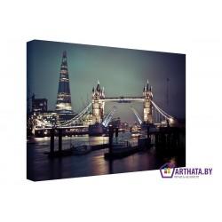 Ночной Лондон - Модульная картины, Репродукции, Декоративные панно, Декор стен