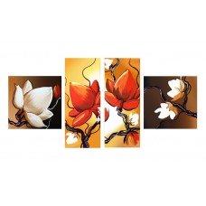 Картина на холсте по фото Модульные картины Печать портретов на холсте Цветы