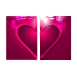 Диптих - сердце - Модульная картины, Репродукции, Декоративные панно, Декор стен