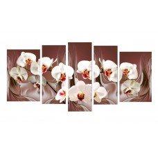 Картина на холсте по фото Модульные картины Печать портретов на холсте Белая орхидея