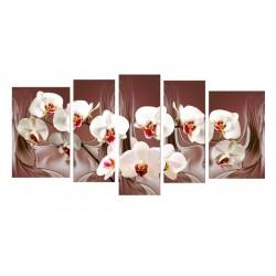 Белая орхидея - Модульная картины, Репродукции, Декоративные панно, Декор стен