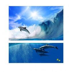Дельфины - Модульная картины, Репродукции, Декоративные панно, Декор стен