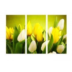 Желтые тюльпаны - Модульная картины, Репродукции, Декоративные панно, Декор стен