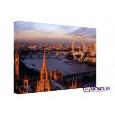 Картина на холсте по фото Модульные картины Печать портретов на холсте Вид на Темзу