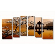 Картина на холсте по фото Модульные картины Печать портретов на холсте Цветущая сакура