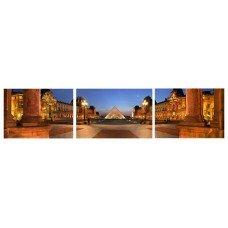 Картина на холсте по фото Модульные картины Печать портретов на холсте Пирамида Лувра