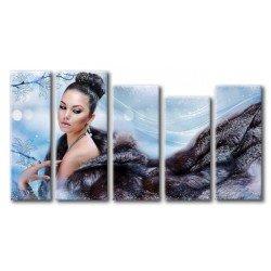 Очаровательная девушка  - Модульная картины, Репродукции, Декоративные панно, Декор стен