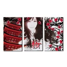 Картина на холсте по фото Модульные картины Печать портретов на холсте Япония