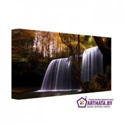 Два водопада - Модульная картины, Репродукции, Декоративные панно, Декор стен