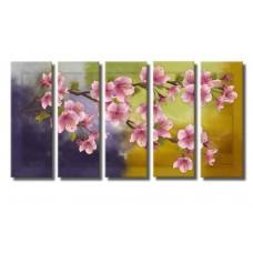 Картина на холсте по фото Модульные картины Печать портретов на холсте Цветущая вишня