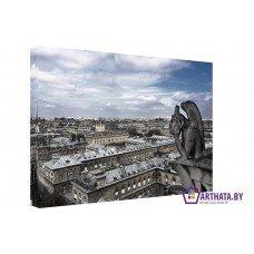 Картина на холсте по фото Модульные картины Печать портретов на холсте Гаргулья собора Нотр-Дам