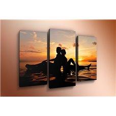 Картина на холсте по фото Модульные картины Печать портретов на холсте Модульная картина на постерной бумаге - m-000360