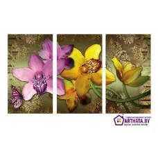 Картина на холсте по фото Модульные картины Печать портретов на холсте Орхидеи