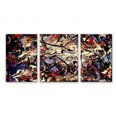 Картина на холсте по фото Модульные картины Печать портретов на холсте Абстракция - Триптих