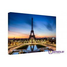 Картина на холсте по фото Модульные картины Печать портретов на холсте Огни Парижа