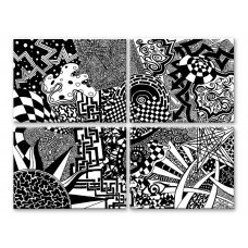 Картина на холсте по фото Модульные картины Печать портретов на холсте ЧБ узоры