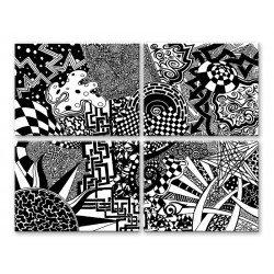 ЧБ узоры - Модульная картины, Репродукции, Декоративные панно, Декор стен