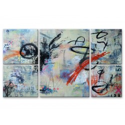Абстракция - Модульная картины, Репродукции, Декоративные панно, Декор стен