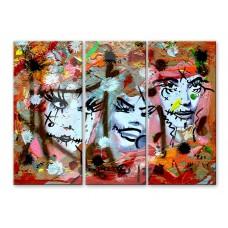 Картина на холсте по фото Модульные картины Печать портретов на холсте Три лица