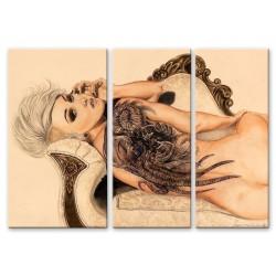 Фото на холсте Печать картин Репродукции и портреты - Девушка с татуировкой