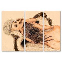Девушка с татуировкой - Модульная картины, Репродукции, Декоративные панно, Декор стен
