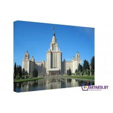 Картина на холсте по фото Модульные картины Печать портретов на холсте Московский университет