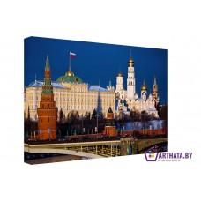 Картина на холсте по фото Модульные картины Печать портретов на холсте Москва златоглавая