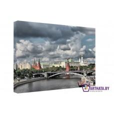 Картина на холсте по фото Модульные картины Печать портретов на холсте Вид на Красную площадь