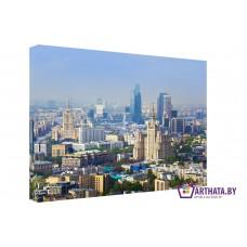 Картина на холсте по фото Модульные картины Печать портретов на холсте Панорама Москвы