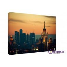 Картина на холсте по фото Модульные картины Печать портретов на холсте Вечерняя Москва